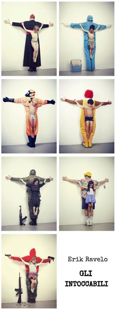 "Series produced by Erik Ravelo.seeks the right of children to be protected and report abuses [the children] suffer especially in countries like Brazil, Syria, Thailand, United States, and Japan"". Art And Illustration, Les Religions, Political Art, Satire, Art Photography, Conceptual Photography, Human Rights, Cool Art, Street Art"