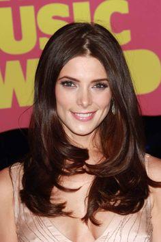 Ashley Green maroon burgundy  hair color