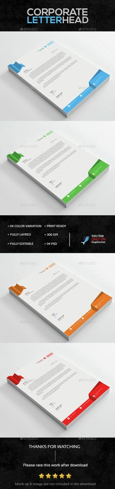 Corporate Letterhead Letterhead template, Graphics and - corporate letterhead