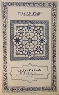 Perzisch-Star quilt patroon van Mary K Ryan 1987
