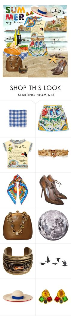 """""""Italian job..."""" by modgirl71 ❤ liked on Polyvore featuring Jayson Home, CO, Dolce&Gabbana, Gucci, Judith Leiber, Seletti, DANNIJO, Eugenia Kim and Chanel"""
