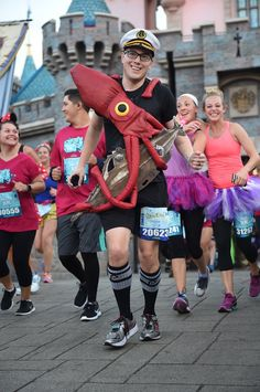 20,000 Leagues Under the Sea Costume, Tinker Bell 10K 2017, Nautilus, Squid