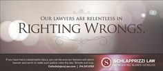 Schlapprizzi Law Firm Catholic Personal Injury Firm catholicinjurylaw.com   RIGHTING WRONGS