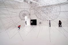 Tomas Saraceno, Galaxies Forming along Filaments, Like Droplets along the Strands of a Spider's Web, 2009 Peter Sloterdijk, Contemporary Artists, Modern Art, Art Et Architecture, Critical Theory, Coups, Installation Art, Sculpture Art, Galaxies