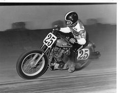 25 days till Lima!!! Did you know Jay Springsteen was #25 in 1976, when he was just 18 years old and rode for Factory Harley-Davidson? He won the first of three consecutive Grand National Championships that year, which earned him the coveted #1 plate for the 1977 season. (Photo: Bert Shepard, silvershutter@aol.com) — with Gene Ramsey and Jay Springsteen.