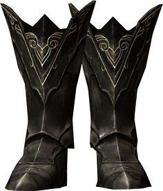 Skyrim Ebony Armor Boots