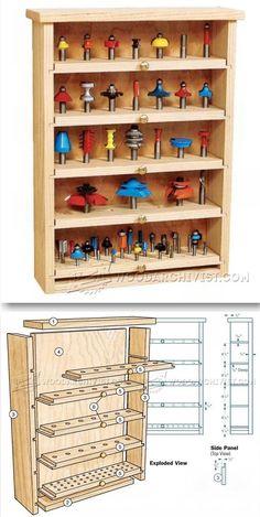 Router Bit Cabinet Plans - Router Tips, Jigs and Fixtures  | WoodArchivist.com