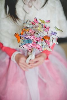 Real Wedding: Ariane and Andy's Afternoon Tea-Themed Wedding in New Zealand butterfly bouquet Wedding Bouquet Charms, Wedding Bouquets, Wedding Flowers, Paper Bouquet, Diy Bouquet, Wedding Advice, Our Wedding, Gypsy Wedding, Wedding Ideas