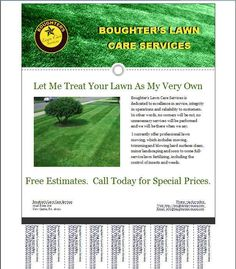how to get lawn mowing customers lawn care business flyer template
