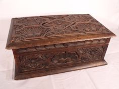 "This is an Important large Antique, deeply carved Walnut Renaissance Casket or box that was owned by the late Movie Star Rock Hudson. Wonderful detail to the carving. The interior is lined with Green felt. This piece was purchased at the William Doyle Galleries Auction of ""Property from the Estate of Rock Hudson (Beverly Hills)"" on Thursday August 20th 1987. Comes with the original sale catalog and the receipt for the purchase. An EXCEPTIONAL piece of Hollywood Movie Star memorabilia!"