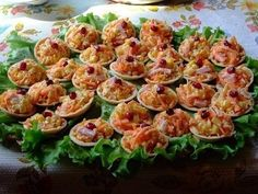 Tartlets with tasty toppings