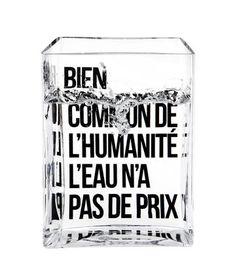 Carafe La Lame d'Eau by Philippe Starck / 50 cl Transparent / Message noir - Made in design Editions