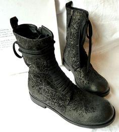 ☆ RUNDHOLZ Lederschuhe/Boots Gr.40, schwarz