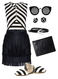 """""""Monochrome"""" by eva-marie-perissinotto on Polyvore featuring Karen Millen, 14th & Union, Quay, McQ by Alexander McQueen, David Yurman and Status Anxiety"""