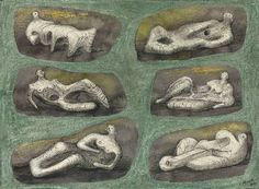 henry moore shelter drawings - Reclining Figures - Ideas for Stone Sculpture couresty of Cea Abstract Sculpture, Sculpture Art, Metal Sculptures, Life Drawing, Painting & Drawing, Figure Drawing, Abstract Drawings, Art Drawings, Henry Moore Reclining Figure