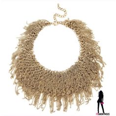 Gold Ruffled Necklace