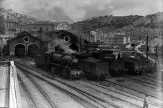 Deposito locomotive di Modica Anni '50 by Ferrovie dello Stato Italiane, via Flickr