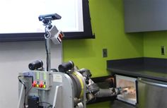 Herb, the Home Exploring Robot Butler, has been hard at work at Carnegie Mellon's Robotics Institute learning how to be, well, a home exploring robot butler. Siddhartha Srinivasa's group has effectively ended robotics research as we know it by teaching Herb to microwave frozen food. Yep, that's it, no more funding, no more papers, no more conferences: robots can now do everything we could ever want.