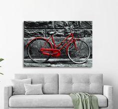 Πίνακας σε καμβά, τελαρωμένος – έτοιμος για τοποθέτηση   Εκτύπωση θέματος με ψηφιακή εκτύπωση σε καμβά 100% βαμβακερό  Τελάρο κουτί 4,5 cm Bicycle, Gallery, Vintage, Bike, Bicycle Kick, Roof Rack, Bicycles, Vintage Comics