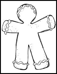 gingerbread template for Scented Gingerbread Man Activity