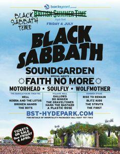 Black Sabbath Confirmed To Headline British Summer Time At Hyde Park - Stereoboard