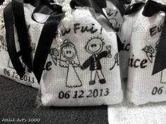 Lembrança de Casamento Noivinhos 1 | Atelie Arts 1000 Bordados | Elo7