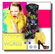 """Color, Ladies, Color"" by michelletheaflack ❤ liked on Polyvore featuring Just Cavalli, Marques'Almeida, Valentino, Linda Farrow, Hermès, valentino, garavani and embroideredmaryjanes"