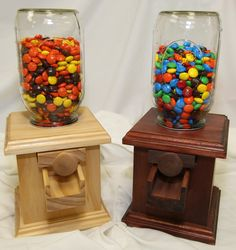 Handmade Wooden Candy Dispenser M Peanut by DavesWoodDesigns