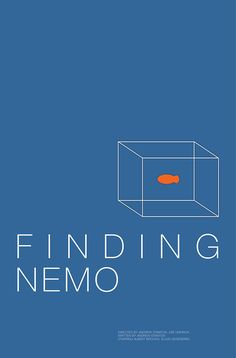 Finding Nemo (2003) ~ Minimal Movie Poster by Andrew Lynne #amusementphile