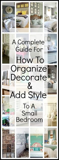 20 Bedroom Organization Tips To Make The Most Of A Small Space ...