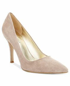 Nine West, Flax Pumps in Heather Taupe Suede, on sale for $60 via Macy's