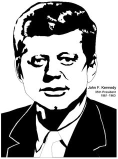 president craft john f kennedy john f kennedy colouring pages page 2