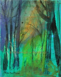 Weekend in the Woods painting on canvas  by RobinMariaPedrero,