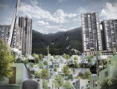 """""""Inter-Active Dwellings"""" em Bogotá: construindo bairros baseados em redes sociais"""
