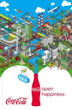Coca-Cola advertising by eBOY