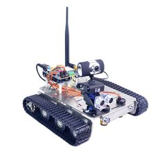 RCBuying supply Xiao R DIY GFS WiFi Wireless Video Control Smart Robot Tank Car Kit for Arduino UNO sale online,best price and shipping fast worldwide. Rc Robot, Smart Robot, Robot Arm, Linux, Uganda, Robot Chassis, Wifi, Android App, Programmable Robot