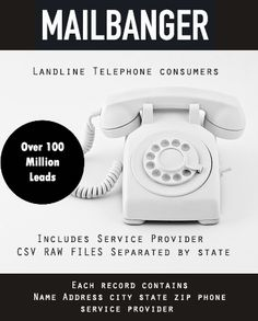 Over 100 million telemarketing leads! Phone number lists and records for marketing/advertising Phone Service, Telephone, Landline Phone, Marketing And Advertising, The 100, Number, Phone