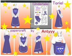 Toriel (Undertale) papercraft by Antyyy.deviantart.com on @DeviantArt