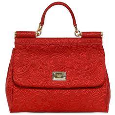 DOLCE & GABBANA Brocaded Medium Sicily Bag (5.505 BRL) ❤ liked on Polyvore