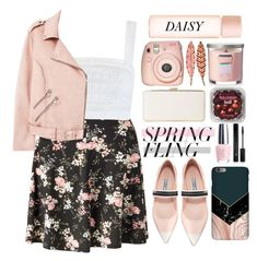 """""""Warmer Days Ahead: Spring Dress"""" by selena-gomezlover ❤ liked on Polyvore featuring Miss Selfridge, Zimmermann, MANGO, Marc Jacobs, Fuji, Yankee Candle, Prada, OPI, Forever 21 and Harper & Blake"""