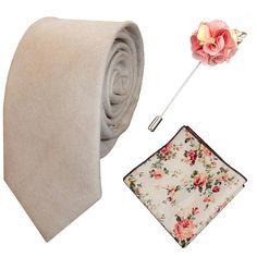 PERSONALISED Mens Cream Suedette Tie Pocket by TiedUpInSocks