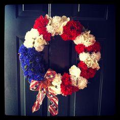 Street homemade 4th of July Wreath :) #diy