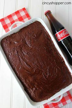 CopyCat Cracker Barrel Coke Cake Recipe Cake Cookies, Cupcake Cakes, Cupcakes, Cracker Barrel Recipes, Best Chocolate Cake, Chocolate Coke Cola Cake, Chocolate Syrup, Coke Cake, Delish Cakes