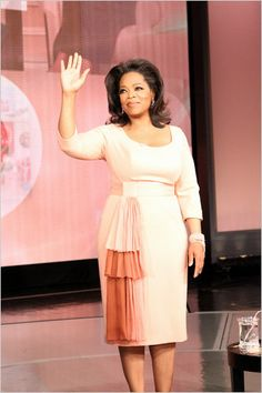 Oprah is a very successful and wealthy African-American women that didn't start out with much. She presented hope to all women not just one race in particular. Curvy Girl Fashion, Plus Size Fashion, Women's Fashion, Fashion Dresses, Oprah Winfrey Show, L'wren Scott, Andreas, African American Women, American History