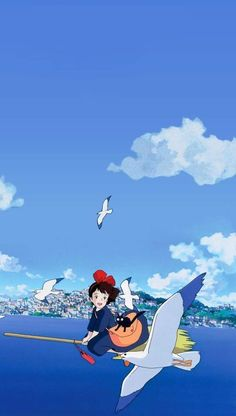 Studio Ghibli Art, Studio Ghibli Movies, Studio Art, Wallpaper Animes, Wallpaper Backgrounds, Hayao Miyazaki, Personajes Studio Ghibli, Studio Ghibli Background, Chihiro Y Haku