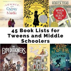 A collection of 45 lists of books specifically for tweens and middle school kids.