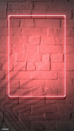 premium image of Neon red frame on a brick wall 894328 Framed Wallpaper, Neon Wallpaper, Phone Screen Wallpaper, Graphic Wallpaper, Aesthetic Iphone Wallpaper, Aesthetic Wallpapers, Brick Wall Wallpaper, Wallpaper Quotes, Best Background Images