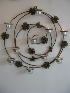 Butterfly Wall Candle Holder - Holds 10 T-lights: Wall Candle ...  www.bookergifts.co.uk
