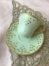 Antique 1895 Theo Haviland Limoges Tea Cup & Saucer Hand Painted Espresso Set