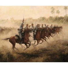 Ferrer-Dalmau, Spanish Cavalry about to charge, Spanish-American War, Cuba 1898 The Spanish American War, American Civil War, Military Art, Military History, Zombie Army, Rough Riders, Civil War Photos, Spanish Artists, Historical Art